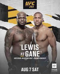 UFC 265: Lewis vs Gane Fight Card
