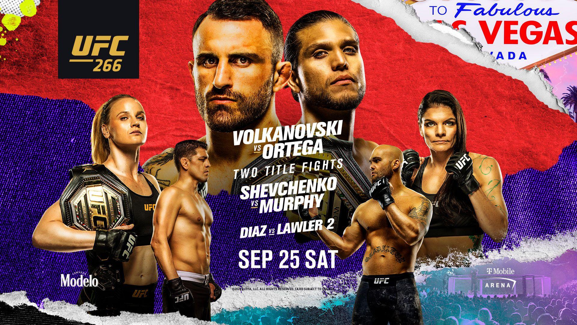 UFC 266: Volkanovski vs Ortega Fight Card