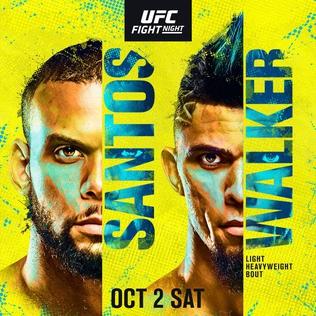 UFC Fight Night: Santos vs Walker Fight Card