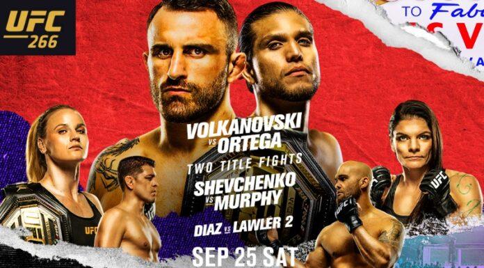 UFC 266 Picks